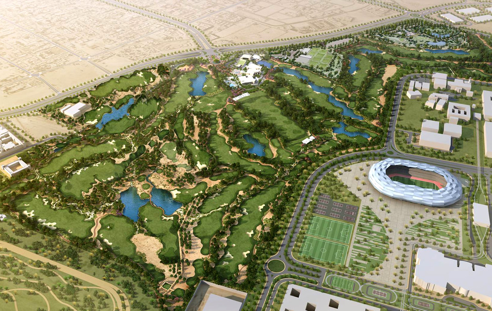 Aerial Education City Golf Club