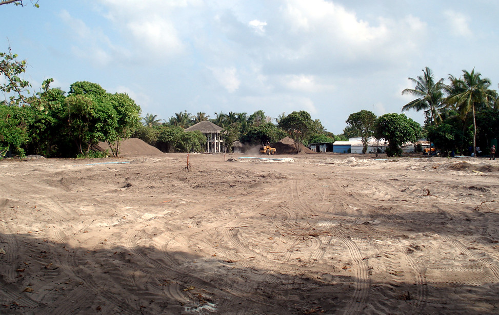 Velaa Golf Academy site at start of construction works
