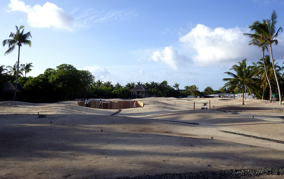 Velaa Golf Acadey site during construction
